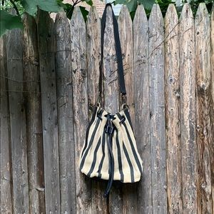 & Other Stories Shoulder Bucket Bag Fabric/Leather